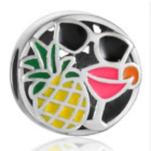 Silver Pineapple Summer Chic European Charm
